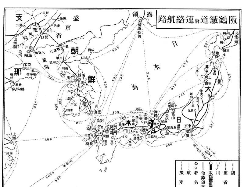 阪鶴鉄道と連絡航路