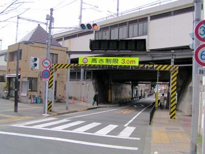 横須賀線西大井駅付近