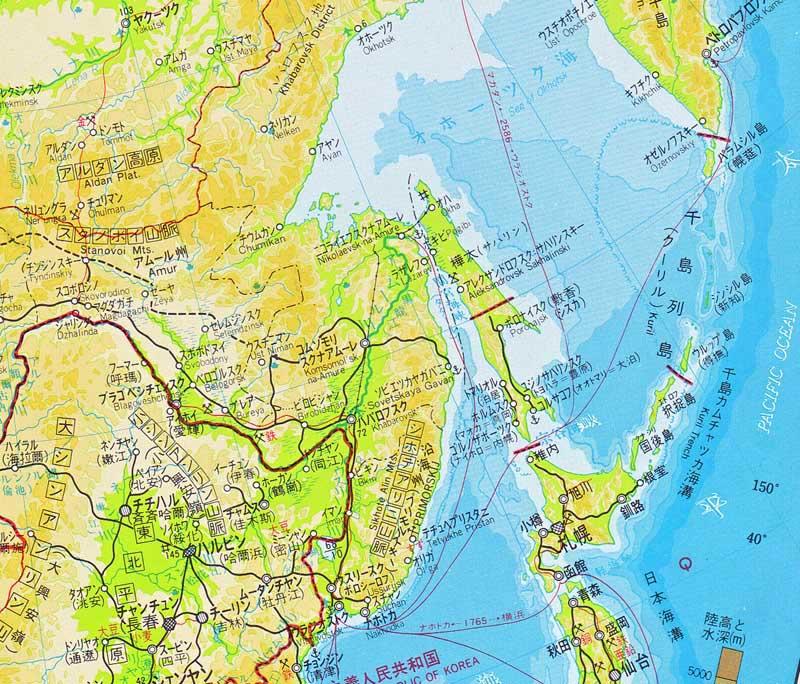 地図 アムール 川